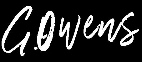 Gerry Owens Logo - White
